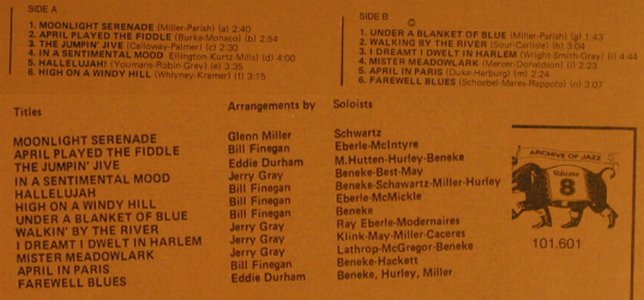 Miller,Glenn: The Swinging Big Band(1939-42), Jazz Line,m-/vg-(101.601), I, Vol.2, 1974 - LP - H1091 - 3,00 Euro
