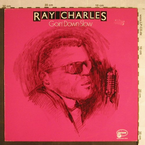Charles,Ray: Goin'Down Slow, m-/vg+, Meteor(MTM-002), UK, Ri, 1984 - LP - H1409 - 5,00 Euro