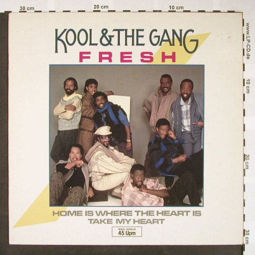 Kool+the Gang: Fresh /Home is where my heart is/+1, Delite(881 564-1ME), D, 1984 - 12inch - H1607 - 3,00 Euro