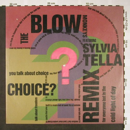 Blow Monkeys feat Sylvia Tella: Choices? rmx *4, RCA(PT 42958), UK, 1989 - 12inch - H1610 - 4,00 Euro