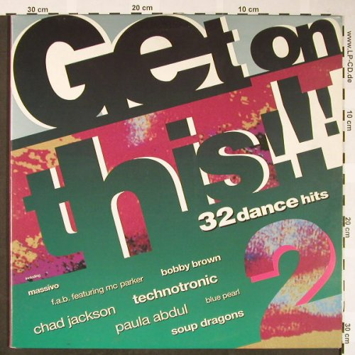 V.A.Get On This 2: 32 Dance Hits,Technotronic..D-Shake, Telstar(STAR 2424), UK, Foc, 1990 - 2LP - H1717 - 7,50 Euro