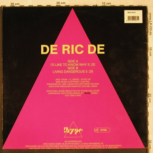 De Ric De: I'd like to know why+1, !Hype(M 526), D, 1990 - 12inch - H3564 - 3,00 Euro