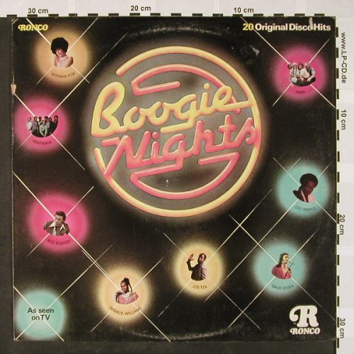 V.A.Boogie Nights: Abba...Wild Cherry, m-/VG+, woc, Ronco(RTL 2027), UK, 1978 - LP - H4021 - 4,00 Euro
