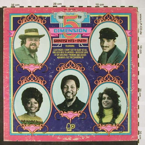 5th Dimension: Greatest Hits On Earth, co, m-/vg+, Bell(1106), US, 1972 - LP - H4088 - 6,00 Euro