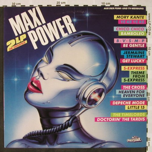 V.A.Maxi Power: Mory Kante...Alicia Bridges, Polystar(816 791-1), D, 1988 - 2LP - H4410 - 6,00 Euro