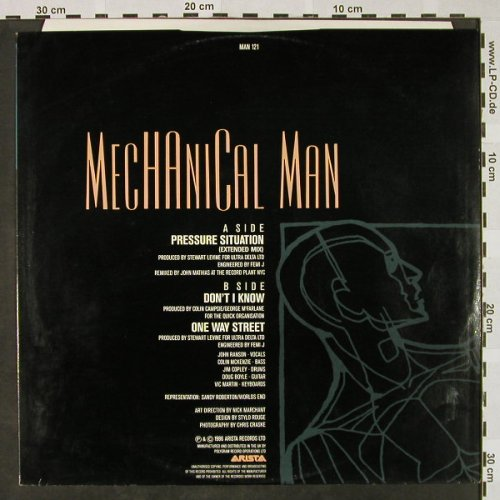Mechanical Man: Pressure Situation+2, ext.mix, Arista(MAN 121), UK, 1986 - 12inch - H4429 - 4,00 Euro