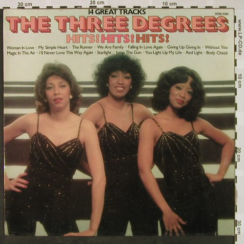 Three Degrees: Hits! Hits! Hits!, Pickwick(SHM 3086), UK, 1981 - LP - H4480 - 6,50 Euro