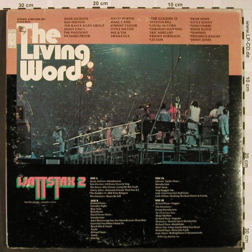 V.A.The Living Word / Wattstax 2: 31 Tr., Live Concert Music, Foc, co, Stax(STS-2-3018), US, 1973 - 2LP - H4535 - 14,00 Euro