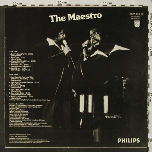 Love Unlimited Orchestra: White Gold, Philips(6370 215), D, 1974 - LP - H4893 - 7,50 Euro