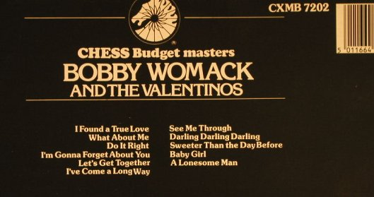 Womack,Bobby and the Valentinos: Same, vg+/m-, Chess(CXMB 7202), UK, Ri, 1984 - LP - H742 - 5,00 Euro