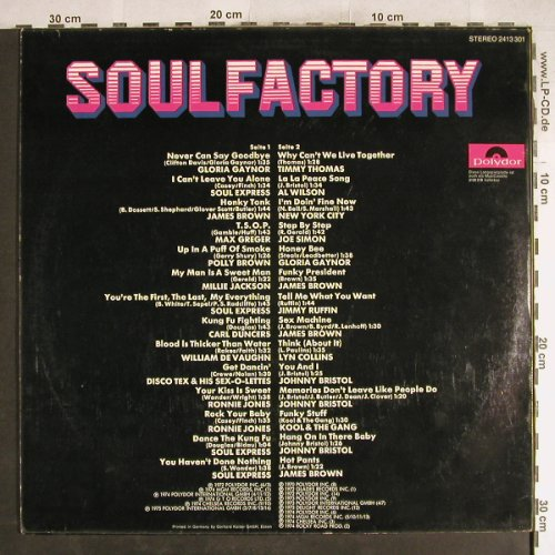 V.A.Soul Factory: Gloria Gaynor...James Brown, Polydor(2413 301), D,  - LP - H7639 - 6,00 Euro