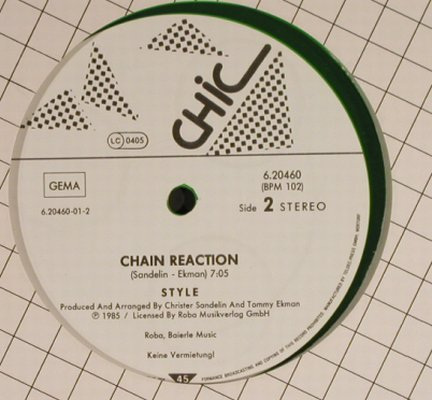 Style: Telephone/Chain Reaction,greenVinyl, Chic(6.20460), D, 1985 - 12inch - H8763 - 3,00 Euro
