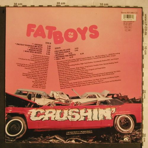 Fat Boys: Crushin', Polydor(831 948-1), D, 1987 - LP - H9623 - 7,50 Euro