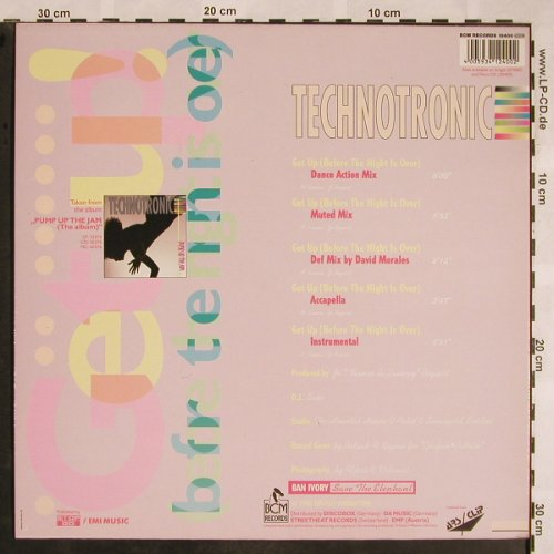 Technotronic: Get Up!(Before The Night Is Over)*5, BCM(12400), D, 1990 - 12inch - X1243 - 4,00 Euro