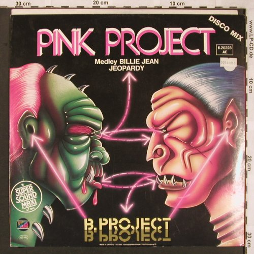Pink Project: B.Project*2,MedleyBillyJea/Jeopardy, Ultraphone(6.20223 AE), D,vg+/m-, 1983 - 12inch - X1869 - 4,00 Euro