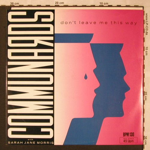 Communards: Don't Leave Me This Way+1, Metronome(886 077-1), D, 1986 - 12inch - X1953 - 3,00 Euro