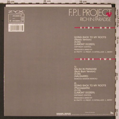 F.P.I.Project: Going Back To My Roots*2+1, ZYX(ZYX 6256R-12), D, 1989 - 12inch - X2181 - 3,00 Euro