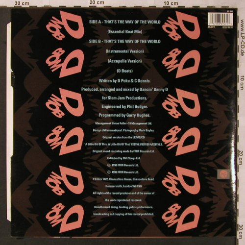 D-MOB: That's the way of the world*2, ffrr(886 947-1), , 1990 - 12inch - X2193 - 3,00 Euro