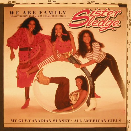 Sister Sledge: We Are Family,lg.vers. '84 mix, Cotillion(796 910-0), D, 1984 - 12inch - X2306 - 5,00 Euro