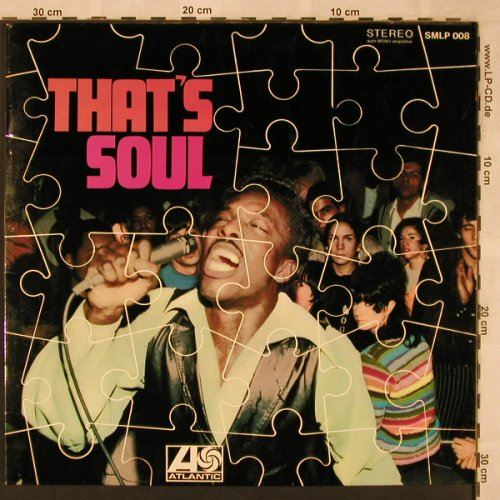 V.A.That's Soul: Wilson Pickett...Drifters,14 Tr.Foc, Atlantic(SMLP 008), D, 1973 - LP - X2386 - 7,50 Euro