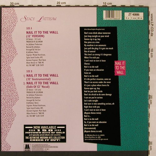 Lattisaw,Stacy: Nail it to the Wall *3, Motown(ZT 40886), D, 1986 - 12inch - X2617 - 4,00 Euro