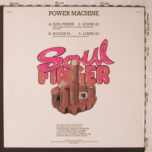Power Machine: Soul Finger / Boogie 64, White Gold(GOLD 104), D,  - 12inch - X2624 - 5,00 Euro