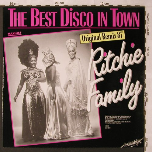 Ritchie Family: The Best Disco in Town,rmx 87 +1, Injection(234.808), D, 1987 - 12inch - X2626 - 4,00 Euro