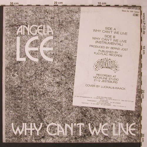 Lee,Angela: Why can't we live *2, m-/vg+, Rush Rec.(RR 12024), D,  - 12inch - X2652 - 3,00 Euro