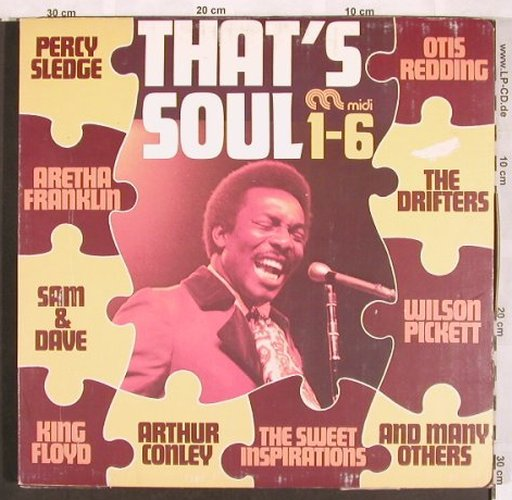 V.A.That's Soul 1-6: Wilson Pickett-Consumer Rapport,Box, Midi(*5)Atlantic(*1)(MID 60 152), D(3.1 vg+),  - 6LP - X3619 - 15,00 Euro