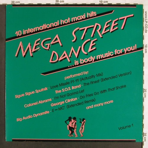 V.A.Mega Street Dance Vol.1: SOS Band...LL Cool J, CBS(24 072), NL, 1986 - LP - X3682 - 5,00 Euro
