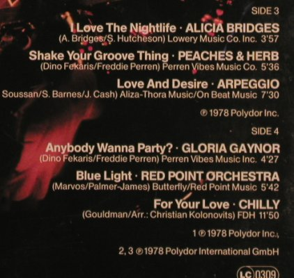 V.A.A Night at the Disco: Gloria Gaynor...Chilly, Foc, Polydor(2664 423), D, 1979 - 2LP - X4379 - 6,00 Euro