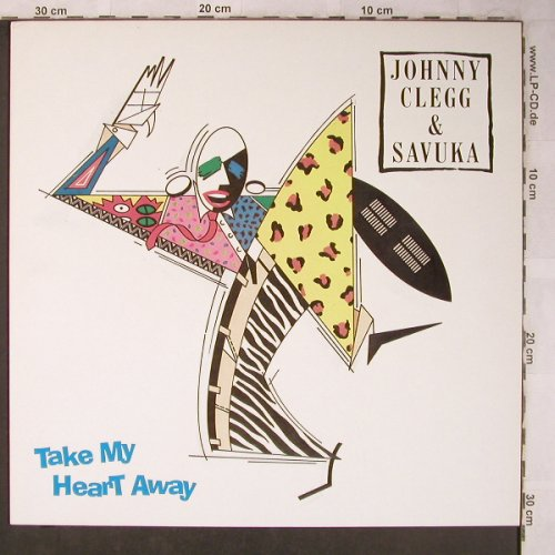Clegg,Johnny & Savuka: Take my Heart Away+2, EMI(20 2968 6), NL, 1988 - 12inch - X5202 - 4,00 Euro