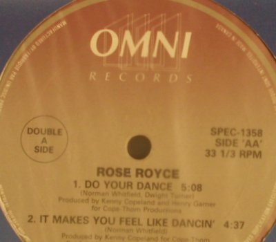 Rose Royce: Car Wash( 5:08) +2, FLC, 33rpm, Omni, m-/vg+(SPEC-1358), CDN, 1987 - 12inch - X5235 - 3,00 Euro