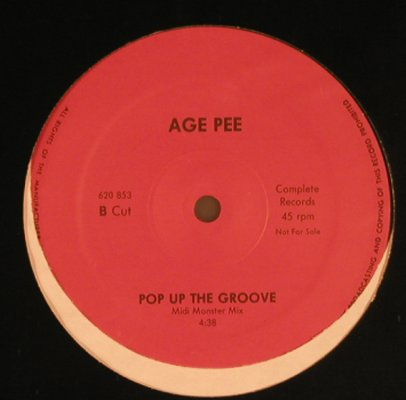 Age Pee: Pop up the groove *2, Complete Records(620 853), D, 1988 - 12inch - X5272 - 4,00 Euro
