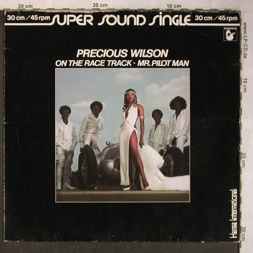 Wilson,Precious: On The Race Track/Mr.Pilot Man, Hansa(600 334-213), D, m-/VG-, 1980 - 12inch - X5483 - 4,00 Euro