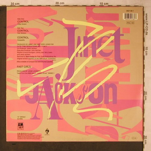 Jackson,Janet: Control * 3, AM(392138-1), D, 1986 - 12inch - X5630 - 4,00 Euro