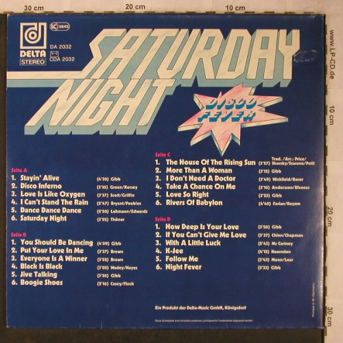 V.A.Saturday Night: Disco Fever, Foc (rip-off ?), Delta(DA 2032), D,  - 2LP - X5661 - 9,00 Euro