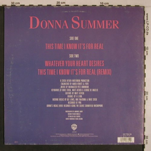Summer,Donna: This Time I Know It's For Real*2+1, WB(257 779-0), D, 1989 - 12inch - X6885 - 5,00 Euro