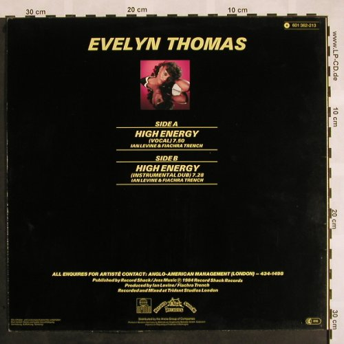 Thomas,Evelyn: High Energy *2, Ariola(601 362-213), D, 1984 - 12inch - X918 - 3,00 Euro