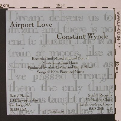 Betty Please: Airport Love / Constant Wynde, Sticky Records(), UK, 1994 - 7inch - S7532 - 3,00 Euro