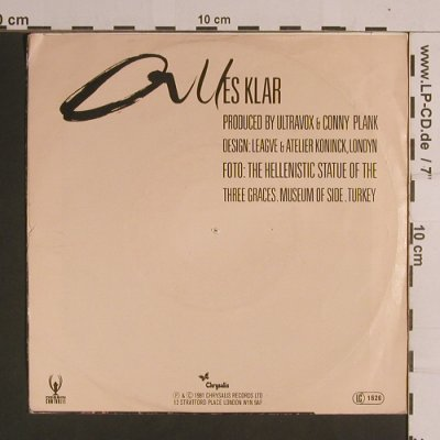 Ultravox: All Stood Still/Alles Klar, m-/vg+, Chrysalis(103 331-100), D, 1981 - 7inch - S8228 - 2,50 Euro