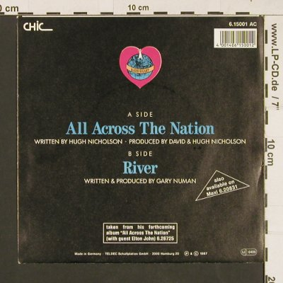 Radio Heart f. Gary Numan: All Across The Nation, Chic(6.15001 AC), D, 1987 - 7inch - S9466 - 1,50 Euro