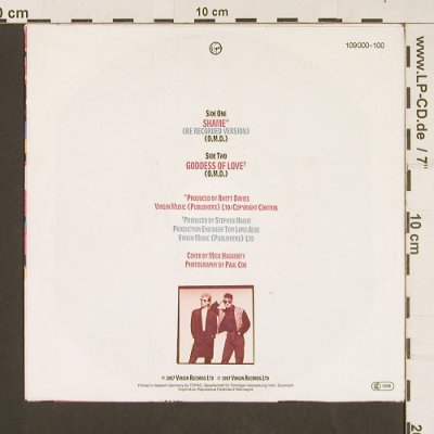 OMD: Shame / Goddess of Love, Virgin(109 000-100), D, 1987 - 7inch - S9467 - 3,00 Euro