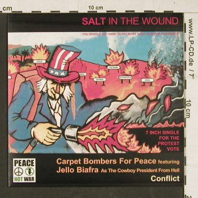 Conflict & Change & Carpet Bombers: Salt in the Wound-Stop the War, Peace n.W(Jung 66 EFA), UK,likeNew, 2003 - EP - S9908 - 10,00 Euro