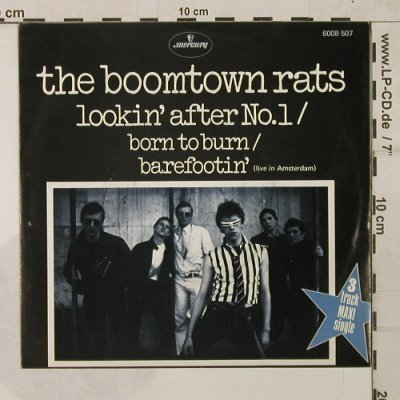 Boomtown Rats: Lookin' after No.1/Born to burn+1, Mercury(6008 507), NL, 1977 - EP - T1820 - 7,50 Euro