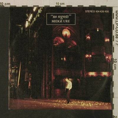 Midge Ure: No Regrets / Mood Music, Chrysalis(104 426-100), D, 1982 - 7inch - T3596 - 3,00 Euro