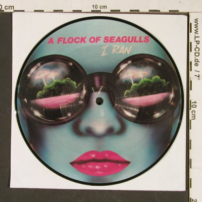 "A Flock of Seagulls: I Ran,bad condition,""wave"",playable, Jive(P 14), UK, 1982 - P7"" - T389 - 2,50 Euro"