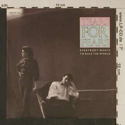 Tears For Fears: Everybody Wants To Rule The World, Mercury(880 659-7Q), D, 1985 - 7inch - T633 - 2,50 Euro
