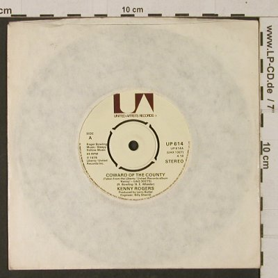 Rogers,Kenny: Coward of the Country, LC, UA(UP 614), UK, 1979 - 7inch - T1270 - 2,50 Euro