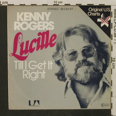 Rogers,Kenny: Lucille / Till I Get It Right, UA(36 242 AT), D, 1976 - 7inch - T3307 - 2,50 Euro